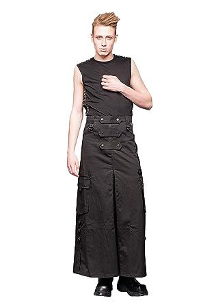 Queen of Darkness - Langer Männerrock mit seitlichen Taschen und D-Ringen 8ed43091cd