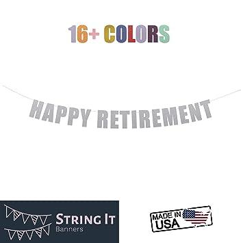 Amazon.com: Pancarta de feliz jubilación – fiesta de ...
