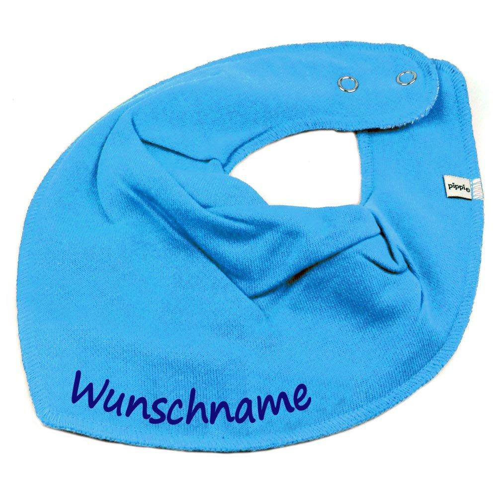 HALSTUCH mit Namen oder Text personalisiert khaki für Baby oder Kind Elefantasie