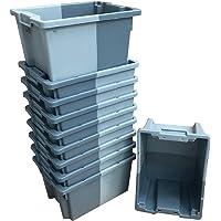 Pack de 10 x 16 litros gris pequeño
