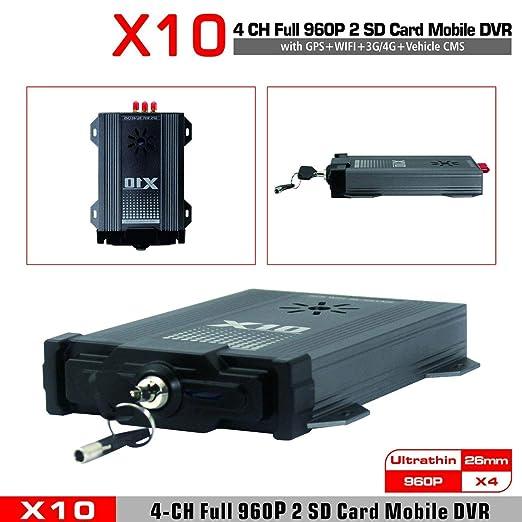 DVR, 4 Canales DVR 720P móvil AHD Android iOS en Tiempo Real de vídeo/grabadora de Audio del Sistema de Seguridad CMS, para los carros remolques Autobuses ...