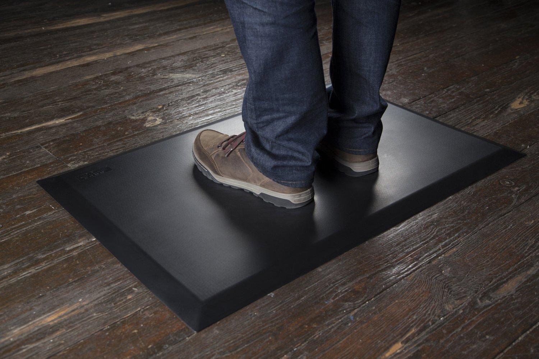 Uprite Ergo Standing Desk Anti-Fatigue Mat 24 in. x 36 in. x 3/4 in. Black