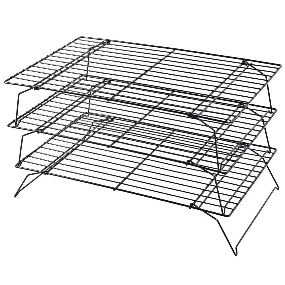 Kabalo Space Saving 3 Tier Stackable Baking Cooling Rack for Biscuits, Cakes & Pastries