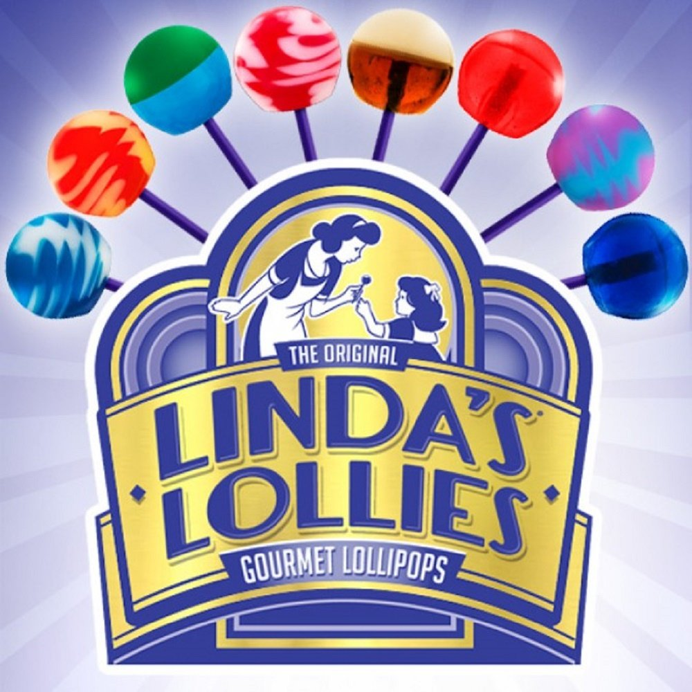 Linda's Lollies Gourmet Lollipops 48 Count Box - Nut, Gluten & Dairy Free - Fat Free