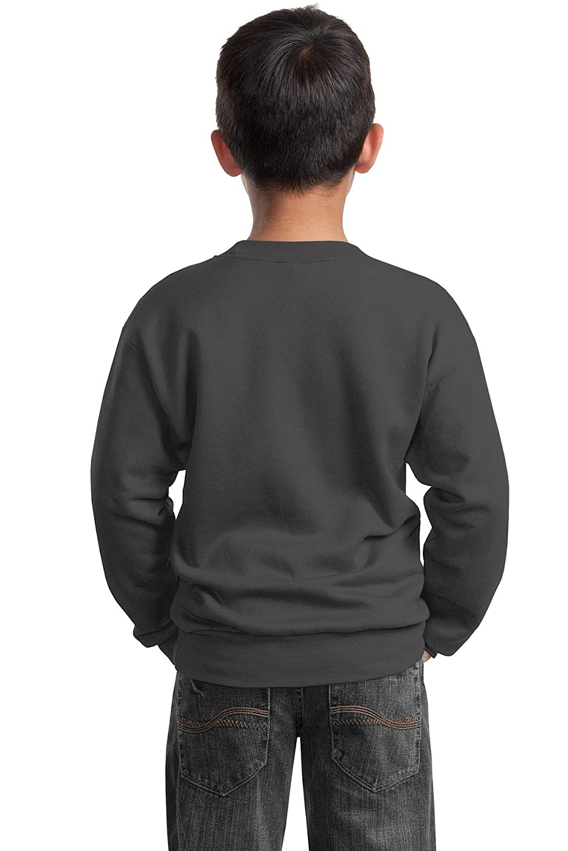 Charcoal Small Port /& Company Youth Crewneck Sweatshirt