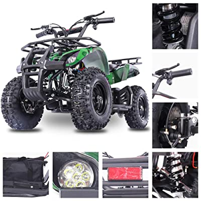 Fit Right 2020 Sonora Kids 24V Mini Quad ATV, Dirt Motor Electric Four Wheeler Parental Speed Control, with 350W Motor Power Reserve, Large Tires & Wide Suspension (Green CAMO): Sports & Outdoors