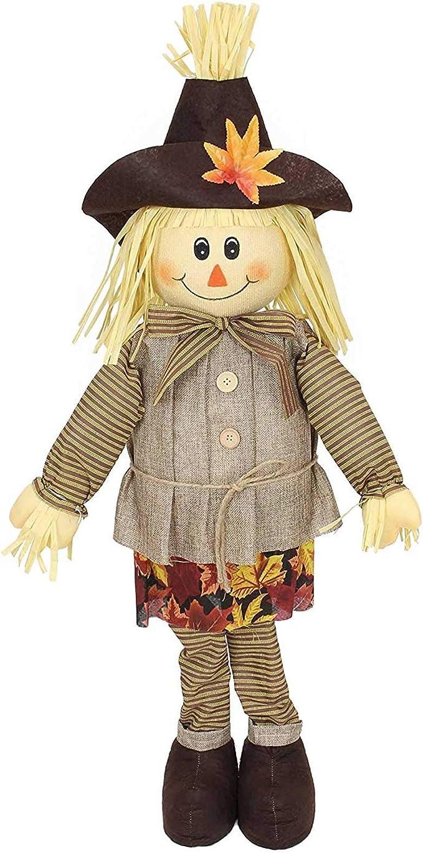 SIDCO Espantapájaros muñecos de Paja Otoño Decoración Halloween decoración jardín decoración muñeco: Amazon.es: Jardín