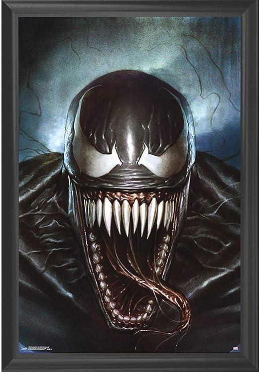 Venom Spiderman Marvel Large Poster Art Print Black /& White in Card or Canvas