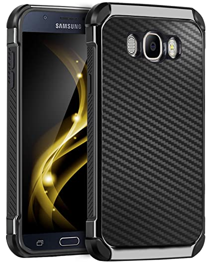 more photos 96d1f 1c650 Galaxy J7 2016 Case, Galaxy J7 J710 Case, BENTOBEN 2 In 1 Drop Protection  Anti-scratch Hybrid PC Laminated with Carbon Fiber Texture Shockproof ...