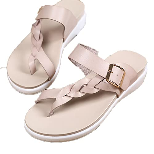 01c85713821911 HEART LOVE Women Sandals Casual Women Shoes Summer Flat Sandals Fashion  Buckle White Ladies Sandals