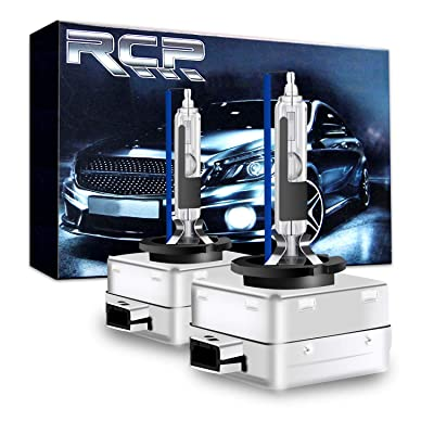 RCP - D1R8 - (A Pair) D1R 8000K Xenon HID Replacement Bulb Factory Ice Blue Metal Stents Base 12V Car Headlight Lamps Head Lights 35W: Automotive