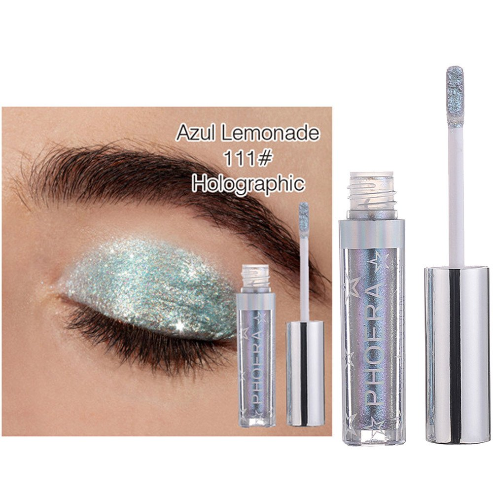12 Color PHOERA Magnificent Metals Glitter and Glow Liquid Eyeshadow