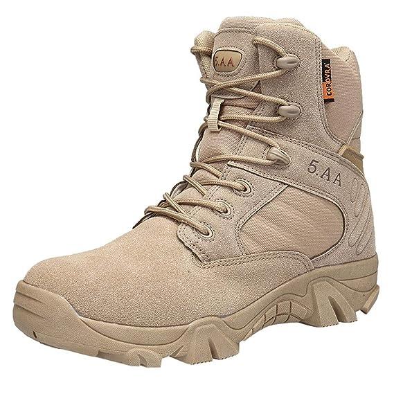 LILICAT® Liquidación Alta para Ayudar a Usar Zapatos tácticos para Exteriores de Gran tamaño para Hombres del Desierto Resistente al Desgaste ...
