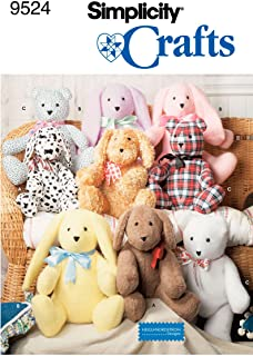 """product image for Simplicity Heigl & Nordstrom Designs Pattern 9524 Two Piece Bunnies, Puppies and Bears, Approximately 14"""""""