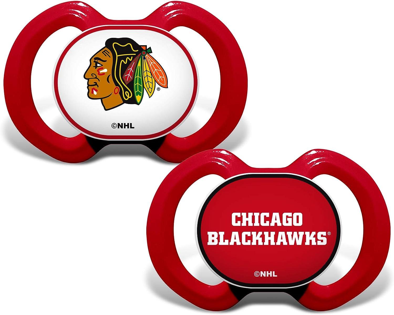 NHL Chicago Blackhawks Team Logo Cotton Bodysuit 3 Pack Newborn Kids Fanatics