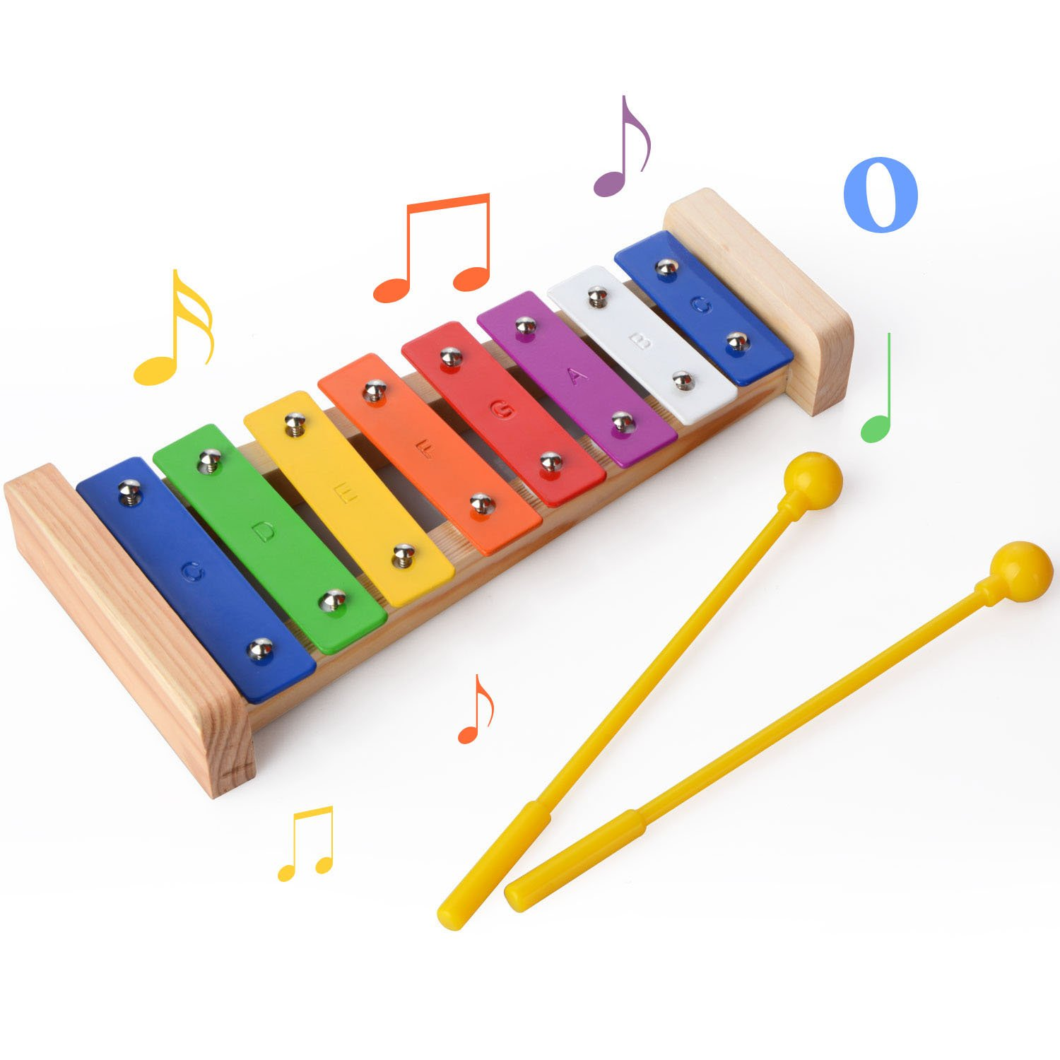 Percussion Set for Kids of All Ages MUITOBOM 20 Pcs Toddler /& Baby Musical Instruments Set Percussion Toy Fun Toddlers Toys Wooden Xylophone Glockenspiel Toy Rhythm Band Set