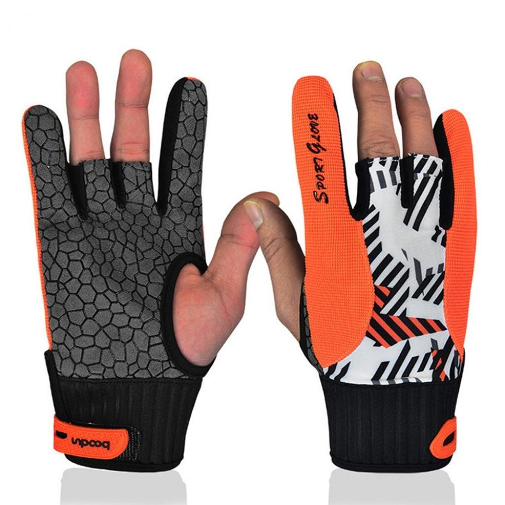 ALCYONEUS Professional Silicone Anti-Skid Women Men Comfortable Fashion Bowling Gloves