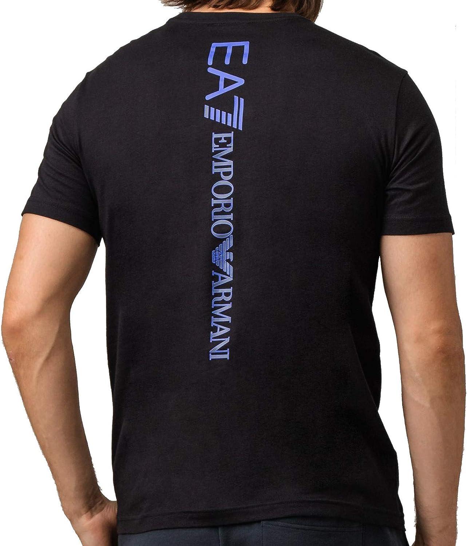 Emporio Armani EA7 Hombre Camiseta Black: Amazon.es: Ropa y accesorios