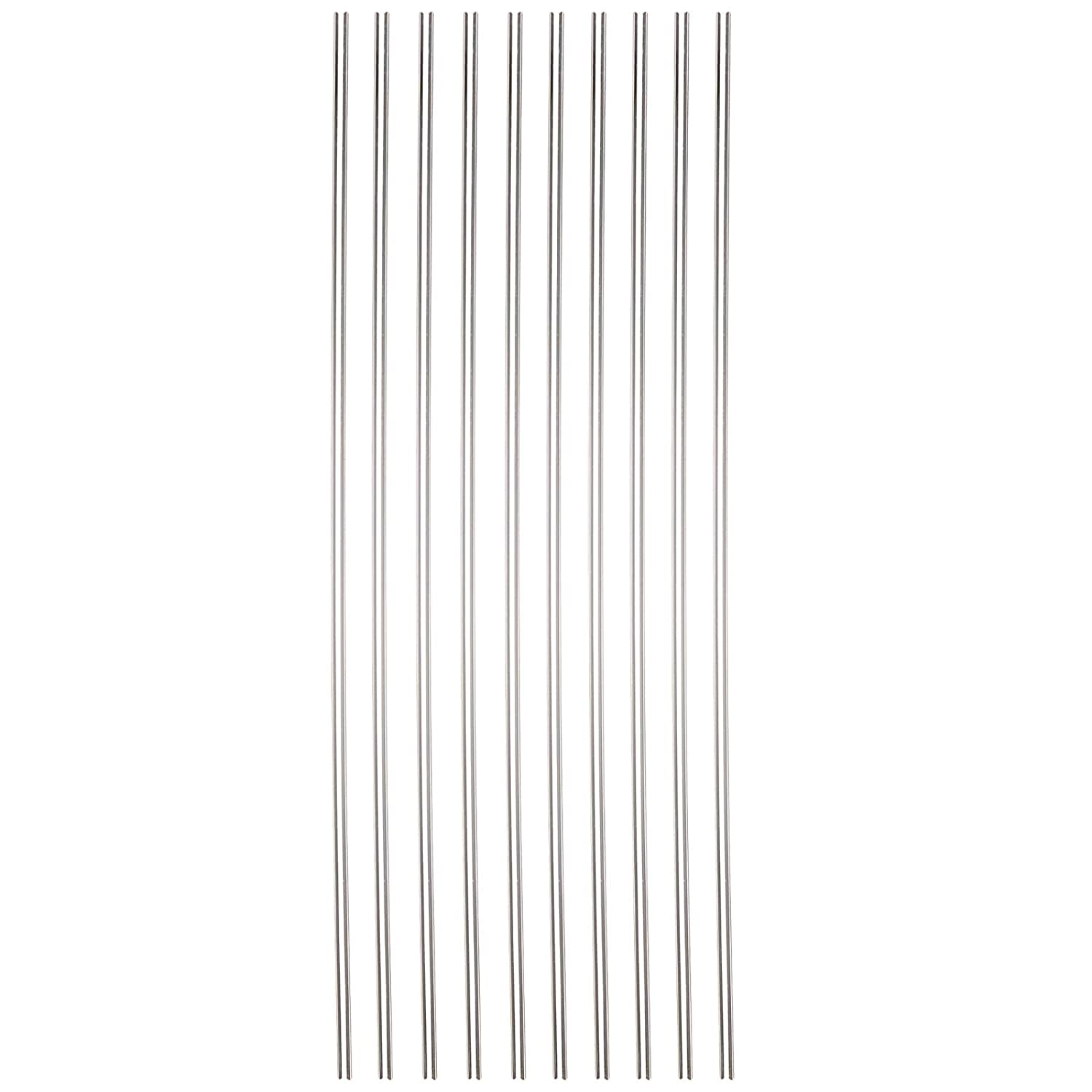 Sammons Preston 44571 Reusable Drinking Straws, Long Reusable Straws are Dishwasher Safe, Set of 10 Straws for Wine Bottles, Tall Cups, Large Glasses, & Thin Liquids, 1/8