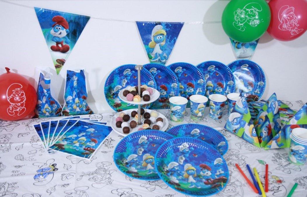 Olaf Schneemann Party Set XL 57-teilig für 6 Gäste Frozen Olafparty Deko