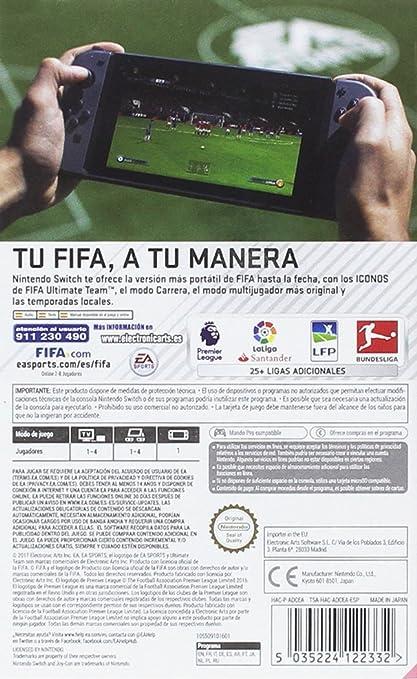 Nintendo Switch - Consola, color azul neón/rojo neón + FIFA 18 ...