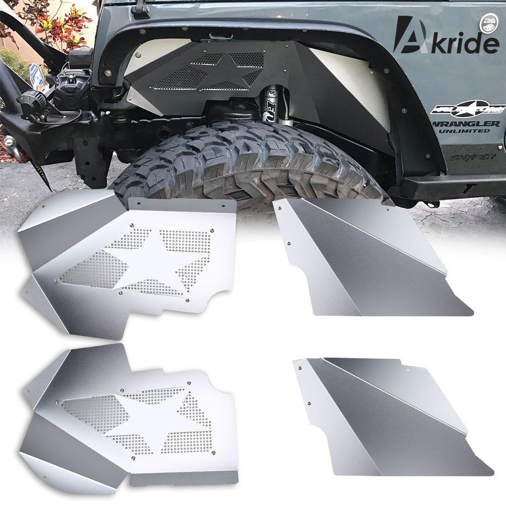 Fender Flares Front Inner Fenders Kits for 2007 2008 2009 2010 2011 2012 2013 2014 2015 2016 2017 Jeep Wrangler JK