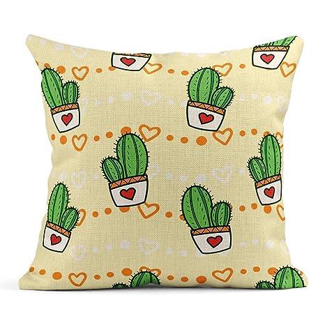 Kinhevao Cojín Cactus Verde Cactus Infantiles Lindos ...