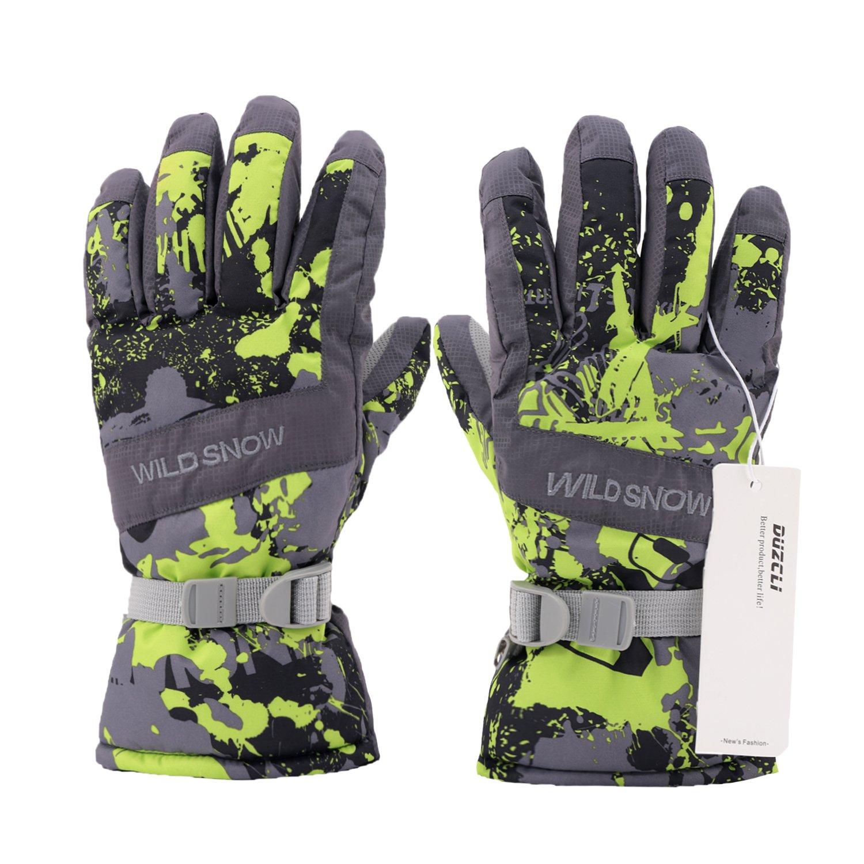 Winter Warm Camo Waterproof Snow Gloves for Men,Women,Boys DUZCLI Ski Gloves
