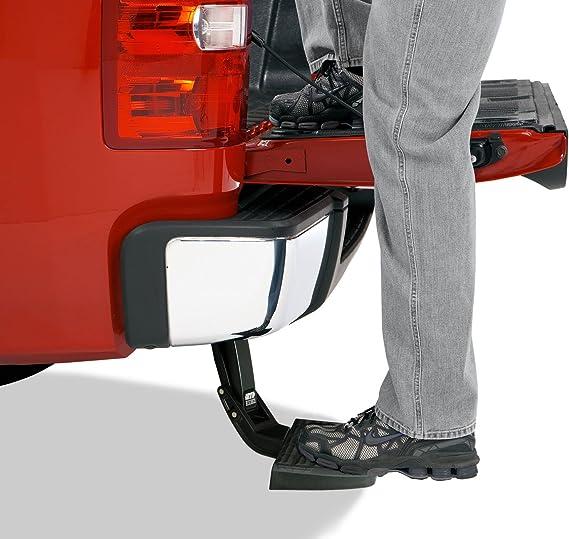 AMP Research 75308-01A BedStep Retractable Bumper Step for 2011-2014 Silverado /& Sierra 2500//3500