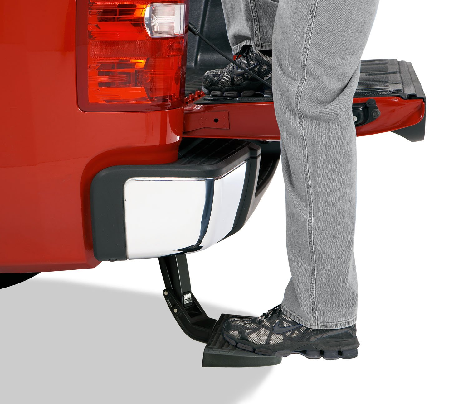 AMP Research 75310-01A BedStep Retractable Bumper Step for 2009-2018 Ram 1500 with Dual Exhaust by AMP Research (Image #2)
