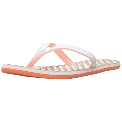 adidas Womens' Shoes   Eezay Dots Athletic Slide Sandals, White/Haze Coral Ice Purple Fabric, (6 M US)
