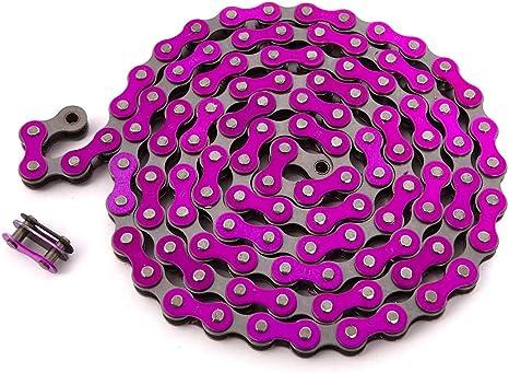 Cadena para bicicletas sin marchas 1//2 x 1//8, 9,3 mm de ancho Talla:negro Clarks