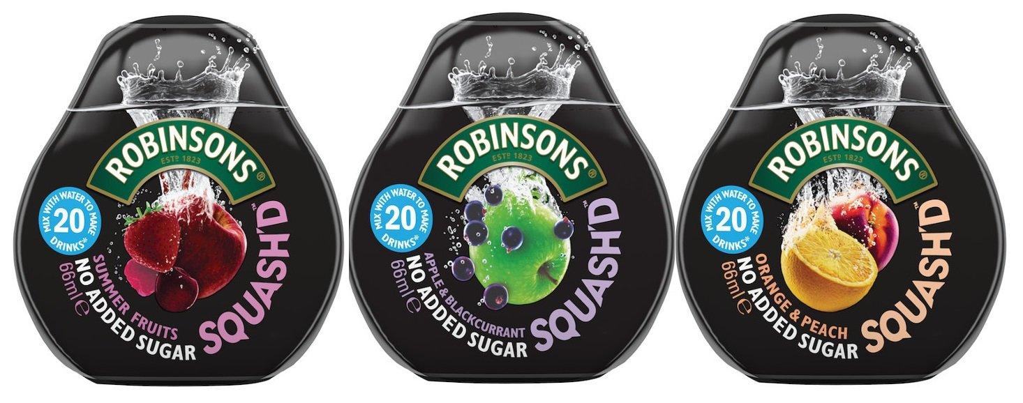 Robinsons Squash'd Multipack - 1 of Each Flavour (3x66ml) - No Added Sugar