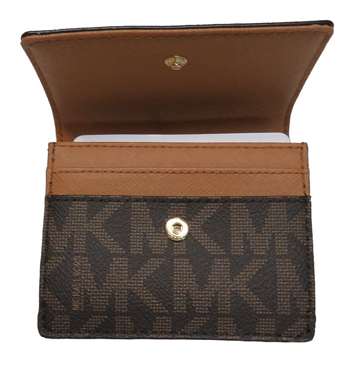 7816522c1243 Michael Kors Jet Set Travel Card Case Wallet Brown Acorn at Amazon Women s  Clothing store