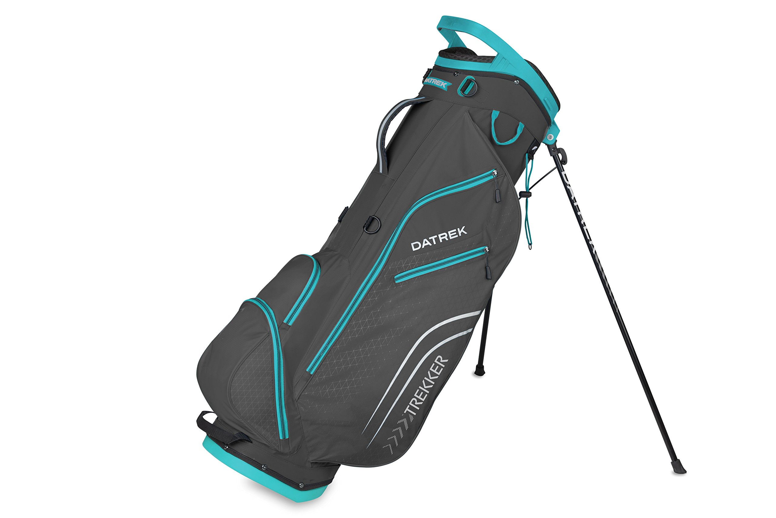Datrek Golf Trekker Ultra Lite Stand Bag (Charcoal/Turquoise)