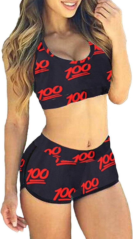 TOP HERE Women's Bandage Sporty Bathing Suit Boyleg Short Bikini Swimsuit