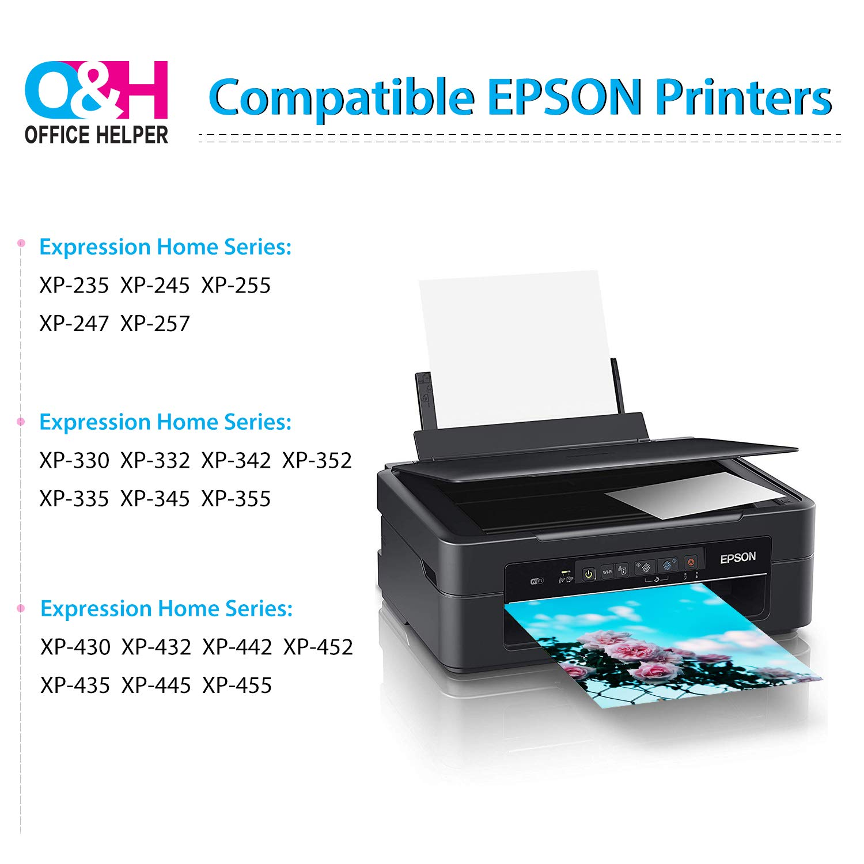 OFFICE HELPER Reemplazo de Cartucho de tinta Compatible para Epson ...