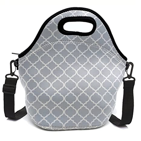 Amazon.com: Neopreno aislante bolsa de almuerzo con cierre ...