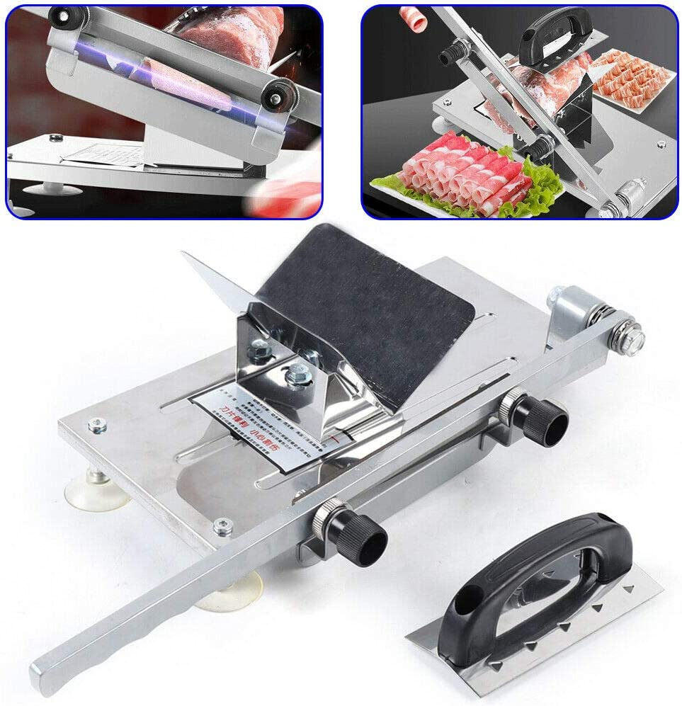 Manual Frozen Meat Slicer, befen Stainless Steel Meat Cutter Beef Mutton Roll Meat Food Slicer