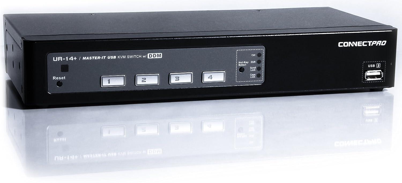 【送料関税無料】 ConnectPro USB UR Plusシリーズキット USB VGA KVMスイッチ DDM 10 & & マルチホットキー 6 ft UR-18-PLUS-KIT B005JT5P16 10 ft 10 ft|4ポート, 生活BOX:77d0f3e0 --- dondonwork.top