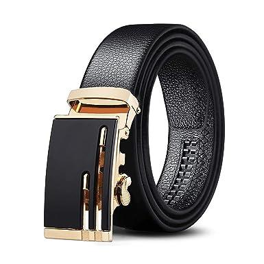 Daesar Cinturon Ancho Cuero Negro Cinturones de Cuero Para ...