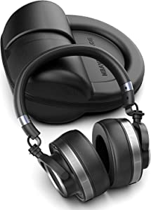 B&R Large Diaphragm Professional Monitor Headphones with Lightning Connector for iPhone - Studio Wired Earphones with Mic and Travel Case (40mm Hi-Fi Certified Dynamic Drivers) (C600 Black)