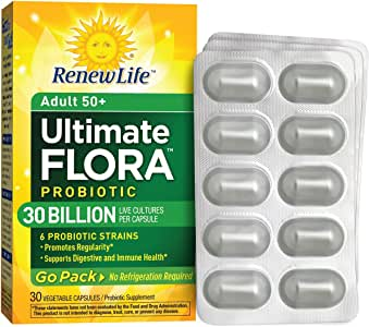 Amazon Com Ultimate Flora Adult 50 Probiotic Go Pack 30