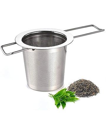 TEA SOUL Passoire /à th/é avec Couvercle Noir