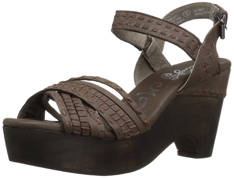 Naughty Monkey Women's Calla Wedge Sandal B01NBSRB1M 7.5 B(M) US|Taupe