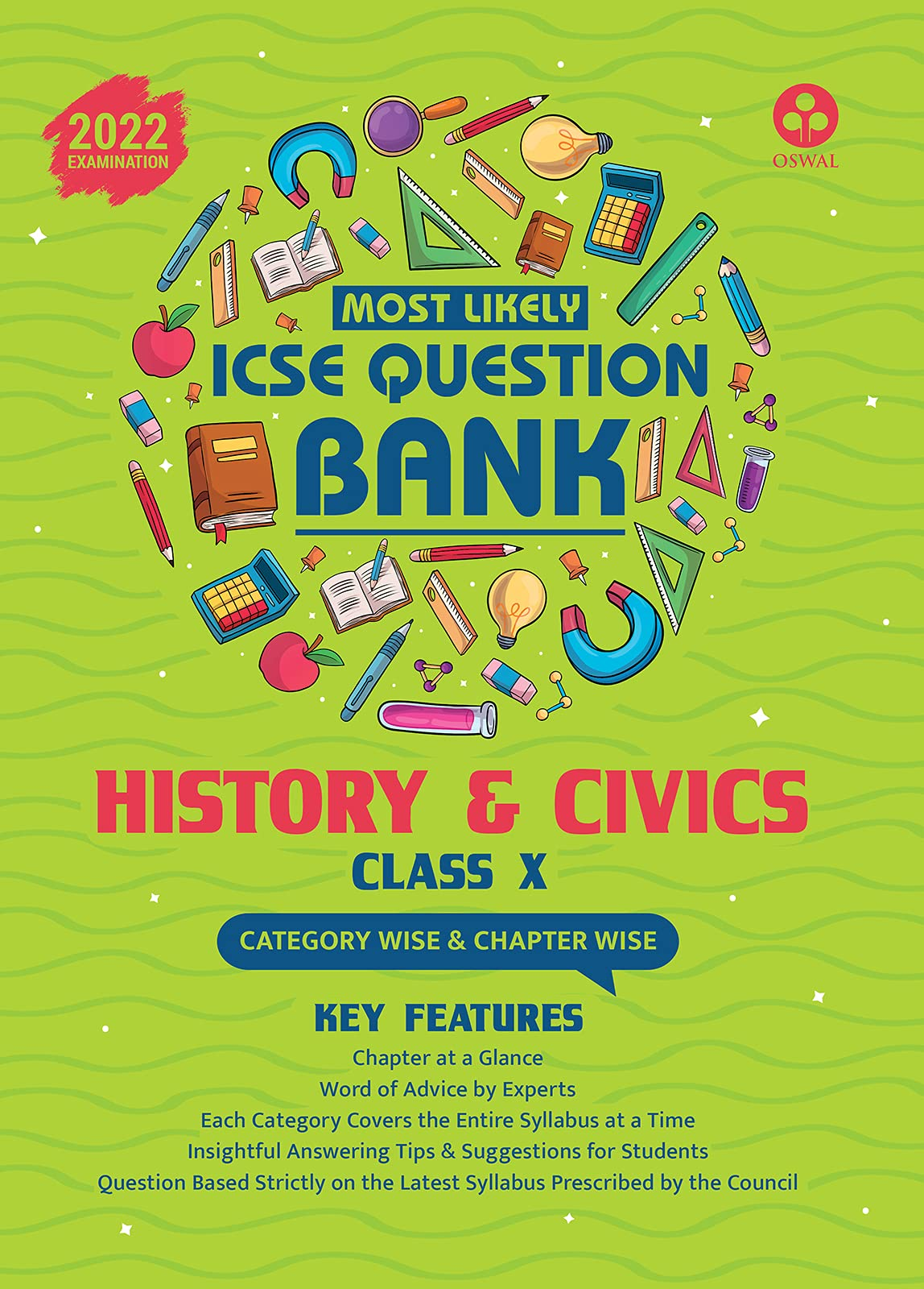 Most Likely Question Bank for History & Civics: ICSE Class 10 for 2022 Examination Paperback – 15 April 2021