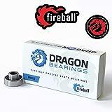 Fireball Dragon Precision Skateboard Bearings | 608 Bearing for Skateboards, Longboards, Inline Skates, Roller Skates, Spinne