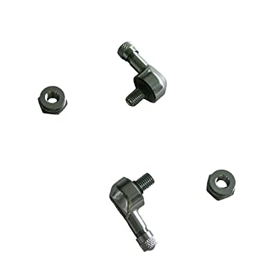 NEX Performance Forged Alloy Angled Valve Stem with Pre-Applied Threadlocker Nut, 0.357in (8.3mm) Size, Gunmetal: Automotive