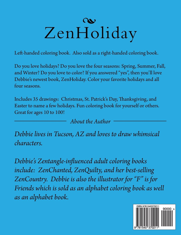 ZenHoliday LH Coloring Book: Debbie Garrison, Susan L. Harrington ...