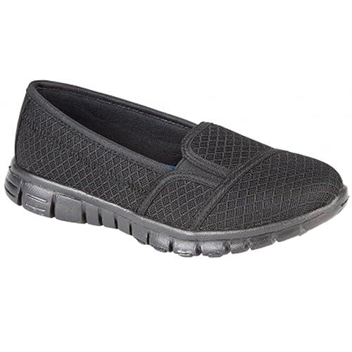 Sapphire TIENDA Pulso Damas Transpirable Ligero Deslizante Zapatillas Cómodo Zapatos Para Caminar - azul marino, 5 UK / 38 EU